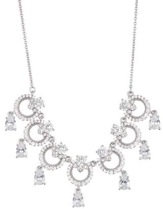 Marchesa CZ Drop Ring Frontal Necklace