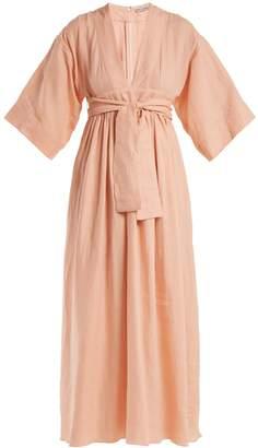 THREE GRACES LONDON Ferrers tie-waist linen dress