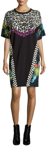 Marc Jacobs Marc Jacobs Patchwork Short-Sleeve Shirtdress, Multi