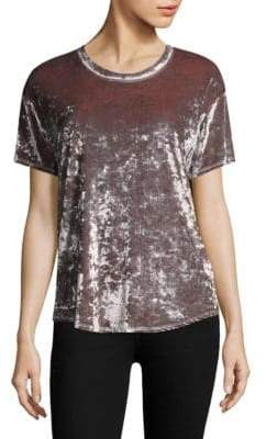 Feel The Piece Arielle Crushed Velvet Tee