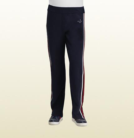 Gucci Oltremare Felt Stretch Cotton Jogging Pant