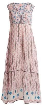 Le Sirenuse Le Sirenuse, Positano - Astrid Kantha Shell Print Sleeveless Maxi Dress - Womens - Pink Print