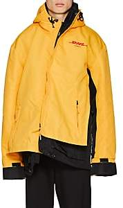 "Vetements Men's ""DHL"" Cotton-Blend Canvas Parka - Yellow"