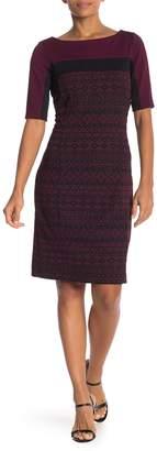 Gabby Skye Jacquard Sheath Dress