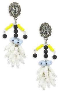 Marni Crystal Embellished Bead Drop Earrings