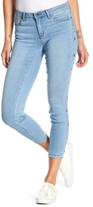 Tractr Grommet Side Panel Crop Jeans