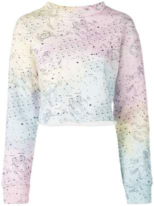 The Elder Statesman Rainbow print sweatshirt