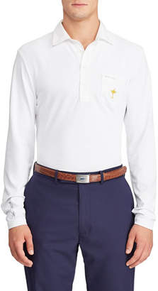 Ralph Lauren Men's Quarter-Button Long-Sleeve Golf Polo Shirt