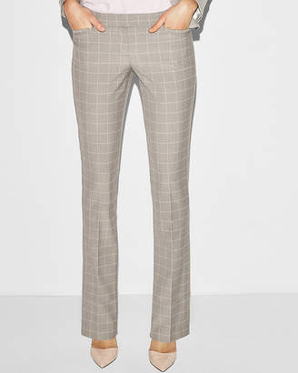 Express Low Rise Windowpane Barely Boot Columnist Pant