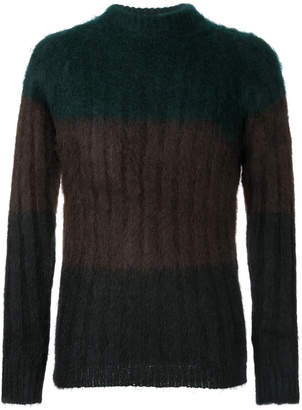 Kolor striped knit sweater