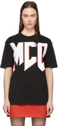 McQ Black and Red Boyfriend Logo T-Shirt