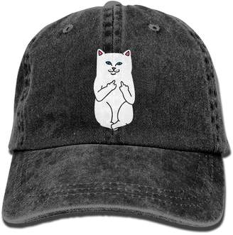 Alility Caps Humor RIPNDIP CAT Cotton Adjustable Denim Hats Baseball Cap  ForMan And Woman 3b3976072771