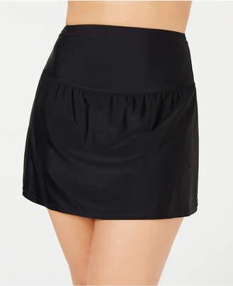 Island Escape Plus Size Tummy-Control Swim Skirt, Women Swimsuit