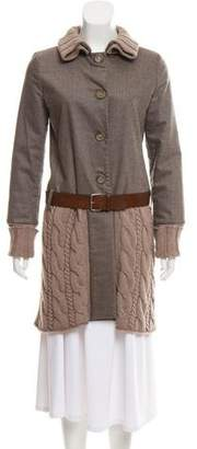 Fabiana Filippi Belted Merino Wool Coat