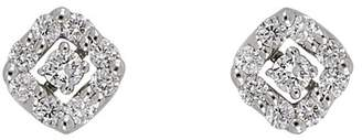 Bony Levy 18K White Gold Pave Diamond Stud Earrings - 0.13 ctw