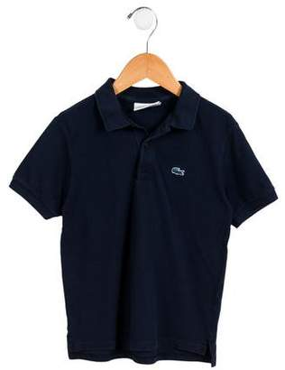 Lacoste Boys' Embroidered Button-Up Polo