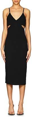 Alexander Wang Women's Jersey Cutout Fitted Dress - Black