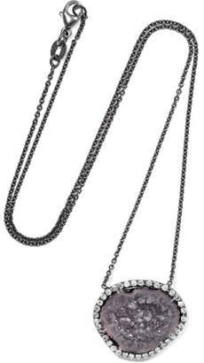 Kimberly McDonald - 18-karat Blackened White Gold, Geode And Diamond Necklace