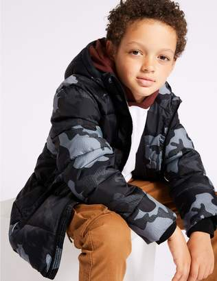 Marks and Spencer Printed Hooded Coat (3-16 Years)