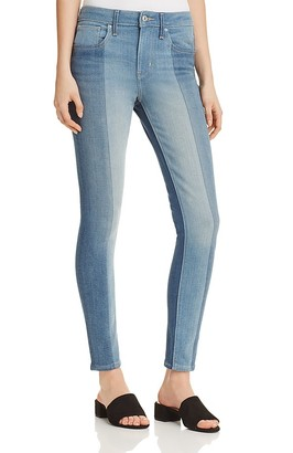 Levi's 721® High Rise Patched Skinny Jeans in Indigo Undone $148 thestylecure.com