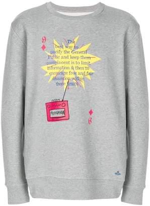 Vivienne Westwood text print sweatshirt