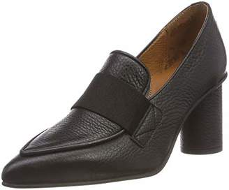 c522a08b9a0 Selected Women s s SLFALEX Leather HIGH Heel Loafer B Closed Toe Black
