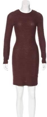 Kimberly Ovitz Long Sleeve Pleated Dress