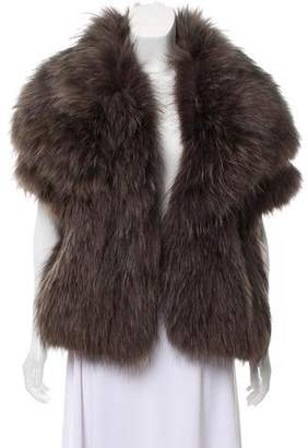 Yves Salomon Hooded Fur Vest w/ Tags