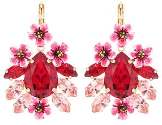 Dolce & Gabbana Crystal and resin floral earrings