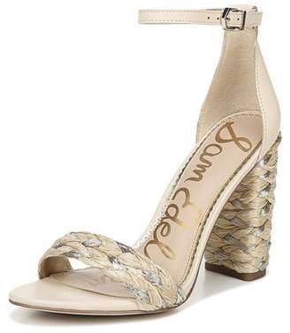 Sam Edelman Yoana Metallic Raffia High-Heel Sandals