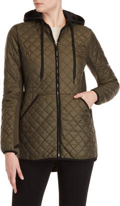 MICHAEL Michael Kors Hooded Diamond Quilted Jacket