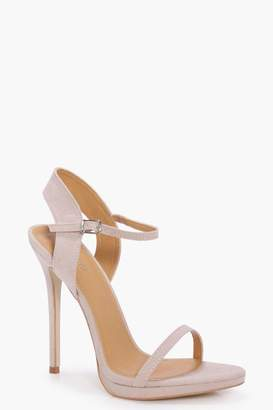 boohoo Lois Platform Two Part Heels