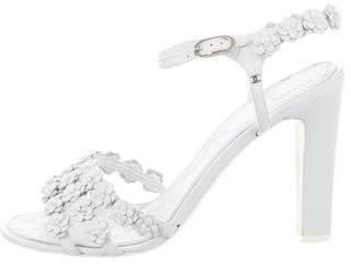 Chanel Camellia CC Pearl Sandals