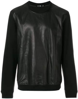 BLK DNM contrast sleeve sweatshirt