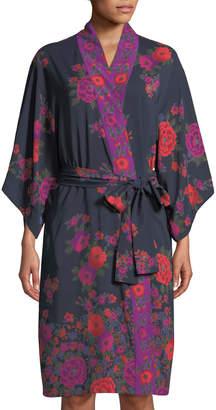 Natori Botanic Floral-Print Long Robe