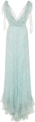 Luisa Beccaria Printed Full Length Dress
