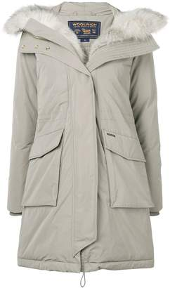 Woolrich feather down hooded coat