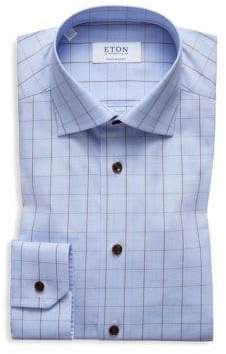 Eton Contemporary-Fit Windowpane Dress Shirt