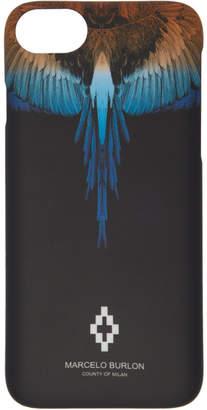 Marcelo Burlon County of Milan Black Wings iPhone 8 Case