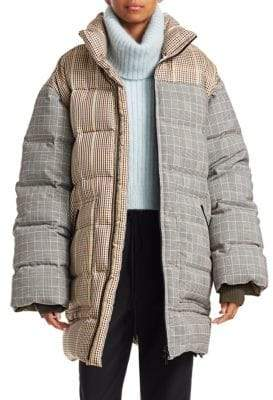 3.1 Phillip Lim Reversible Check Oversize Down Coat