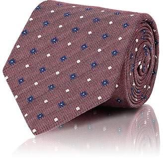 Isaia Men's Floral & Dot-Pattern Silk Necktie