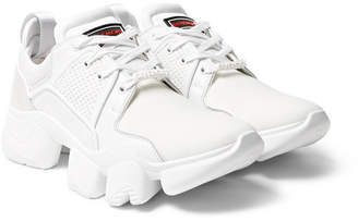 Givenchy Jaw Neoprene, Suede, Leather and Mesh Sneakers - Men - White