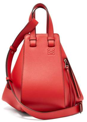 Loewe Hammock Small Smooth Leather Bag - Womens - Red