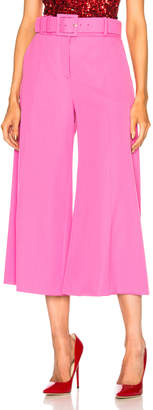 Oscar de la Renta Cropped Wide Leg Trousers