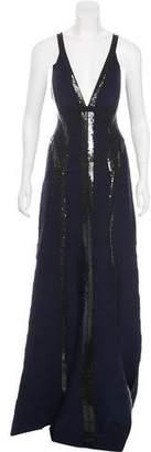 Herve Leger Katara Embellished Gown