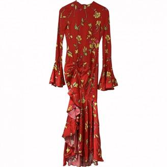 Caroline Constas Red Silk Dress for Women