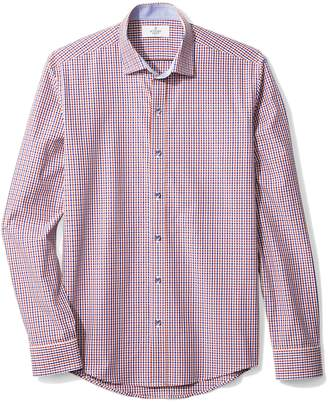 Buttoned Down Men's Slim Fit Spread-Collar Sport Shirt