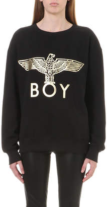 Boy London Metallic Eagle logo cotton-jersey jumper