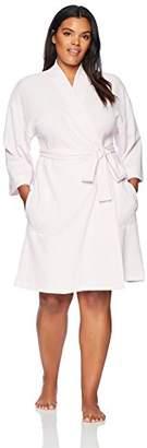 Arabella Women's Plus Size Knit Waffle Robe