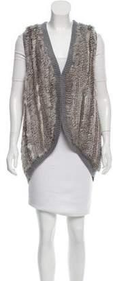 Joie Fur-Trimmed Wool Vest